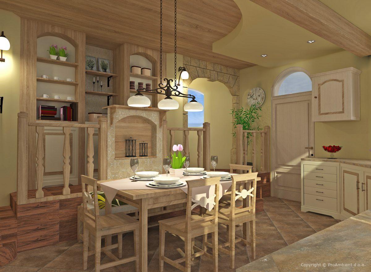 3d Izris Hiše stilno pohištvo
