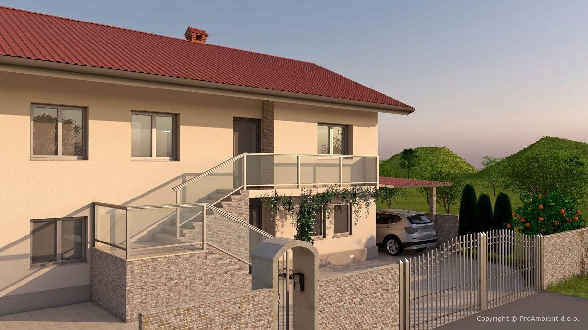 3d Izris Hiše Zunanjost