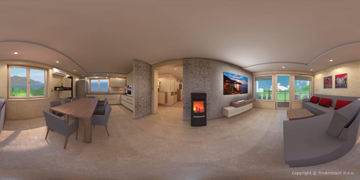 3d Vizualizacija Notranje Opreme 360°