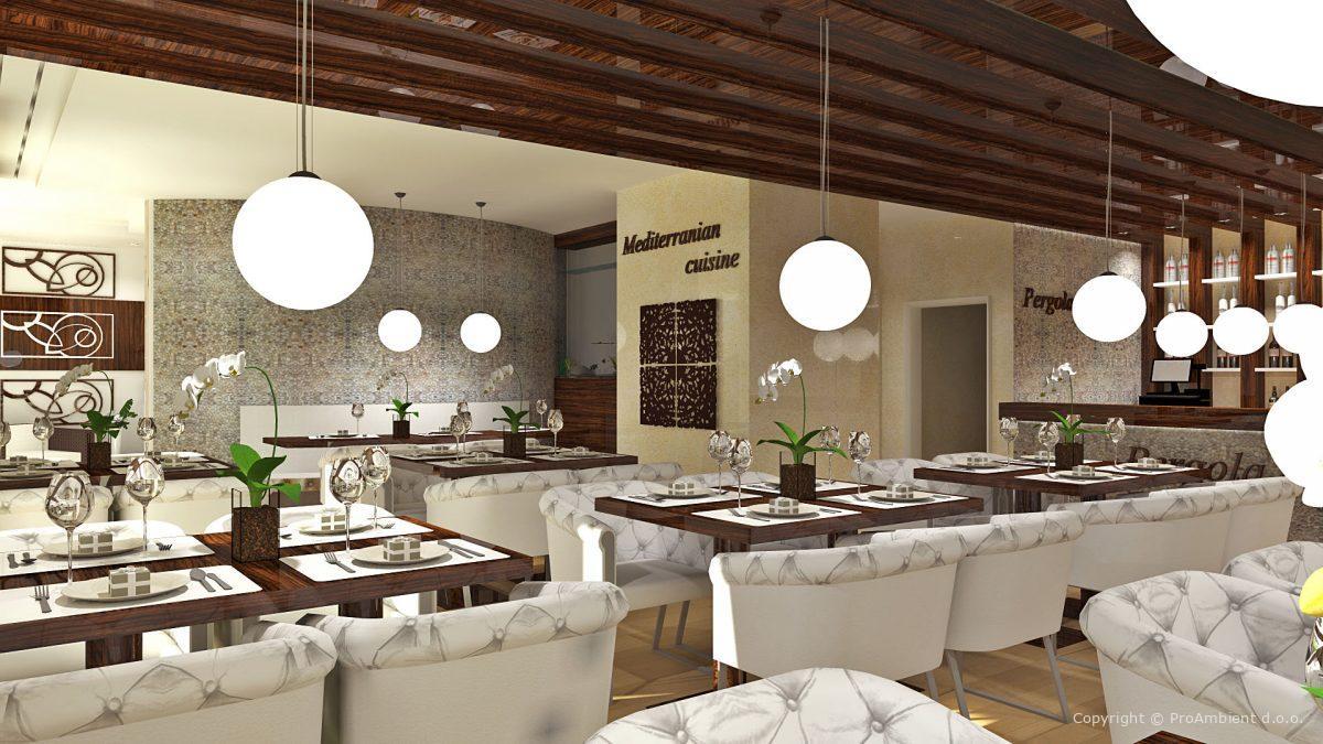 Projektiranje Notranje Opreme Restavracija