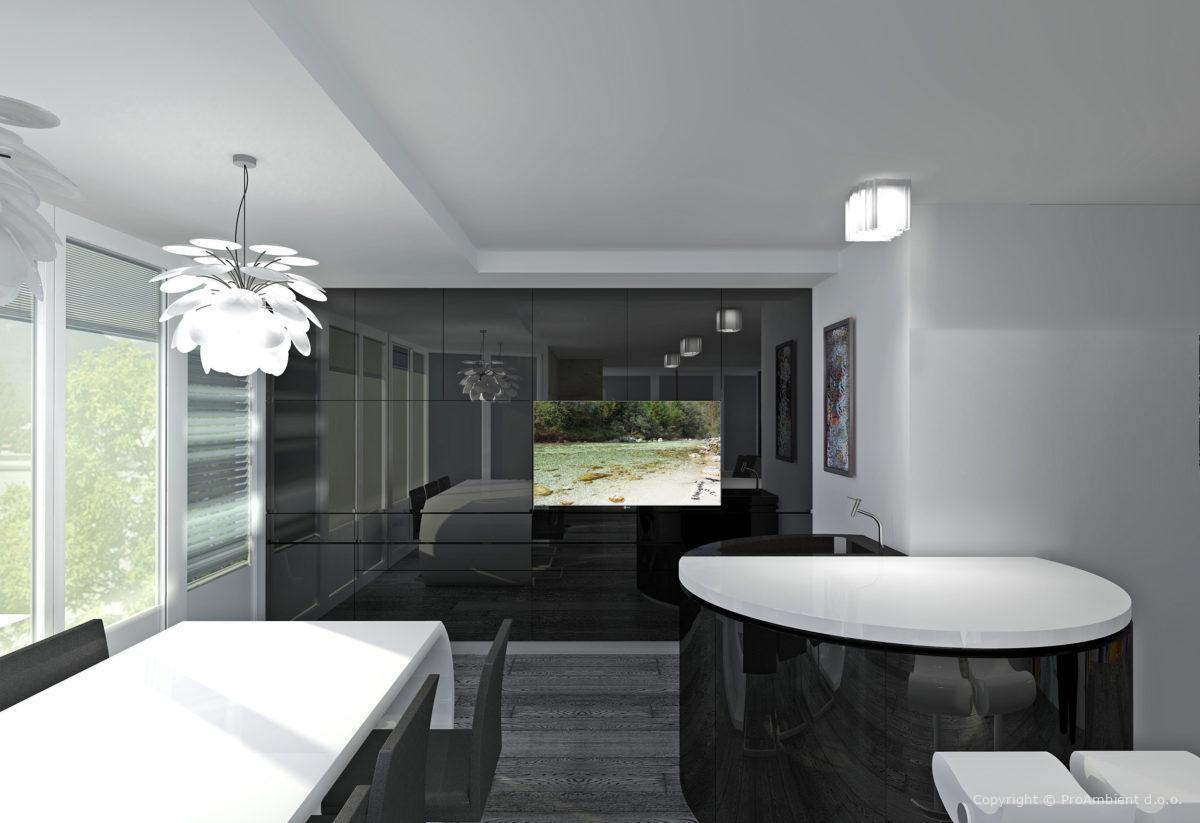 Notranja Oprema Stanovanja V Modernem Stilu