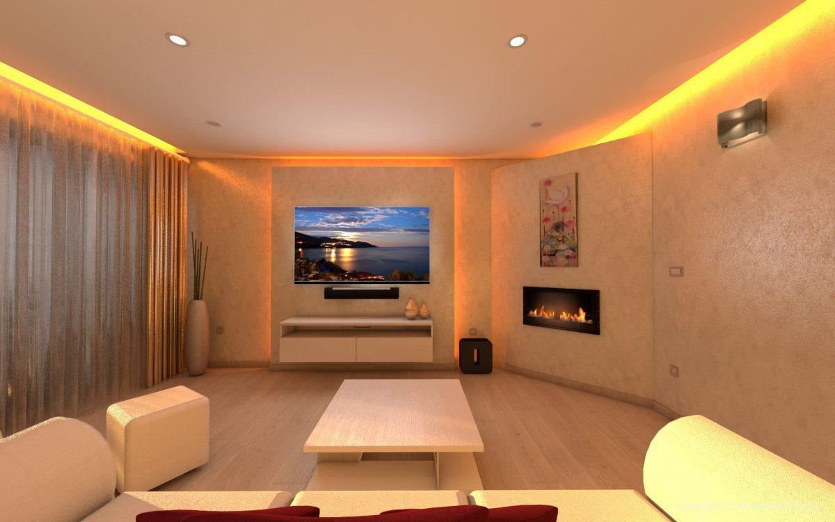 Projektiranje Razsvetljave Dnevna Soba Sočni Zahod