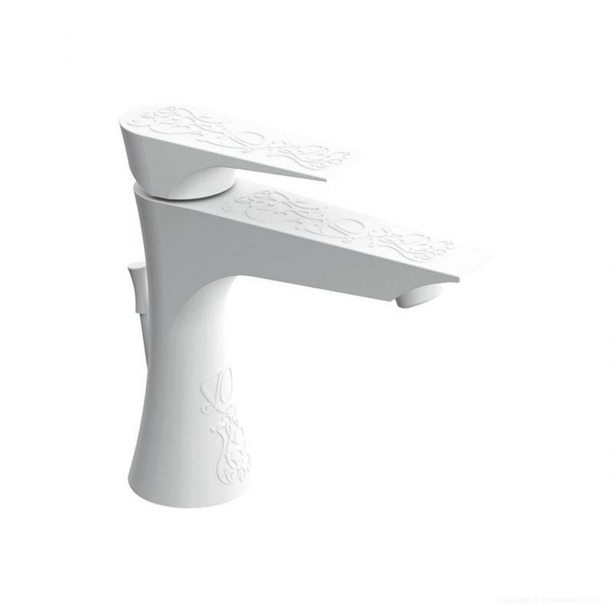Bela armatura za umivalnik