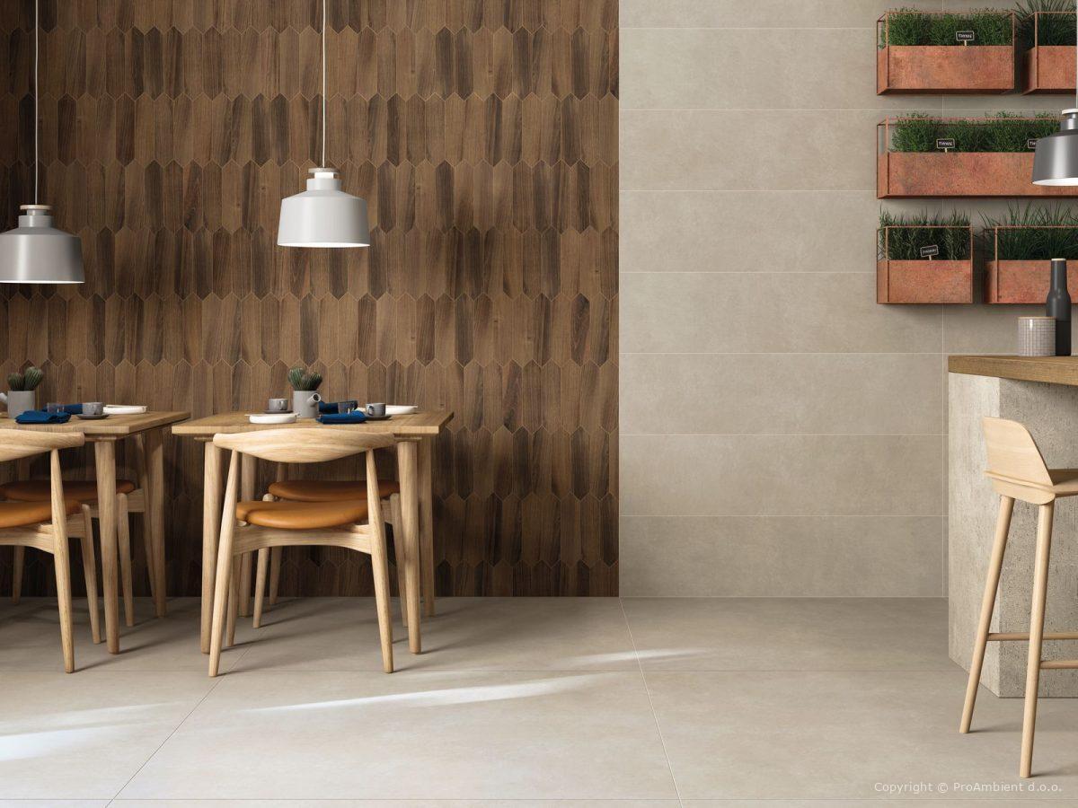 Keramika v imitaciji lesa in kamna