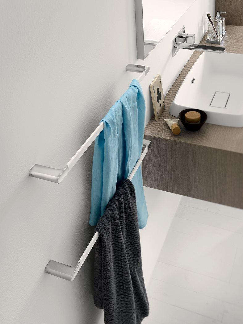 Satinirano bela držala za brisače
