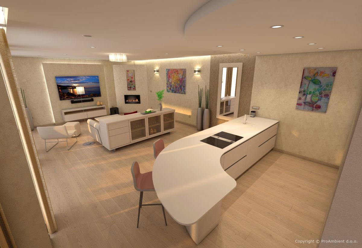 Cenik Notranjega Oblikovanja stanovanja