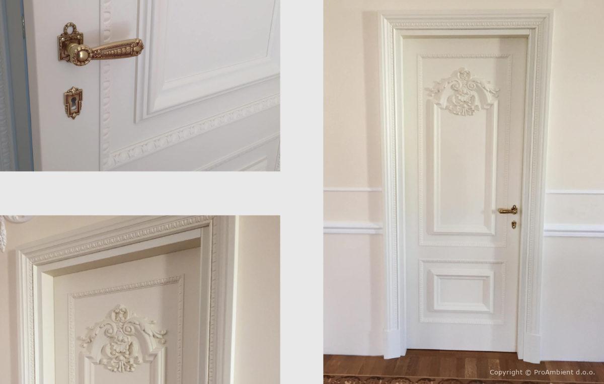 Klasicna Vrata Bela stilno stavbno pohištvo