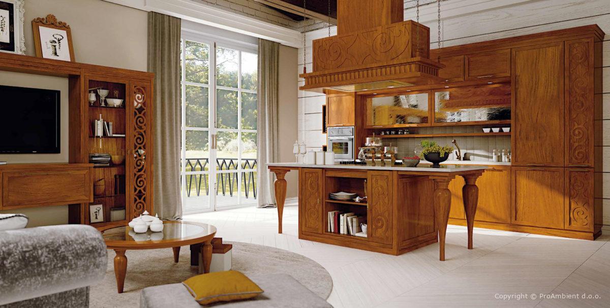 Kuhinja v Stilu Italijanski design Bk7