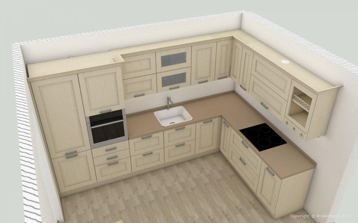 Brezplačni 3D Izris Kuhinje Akcija