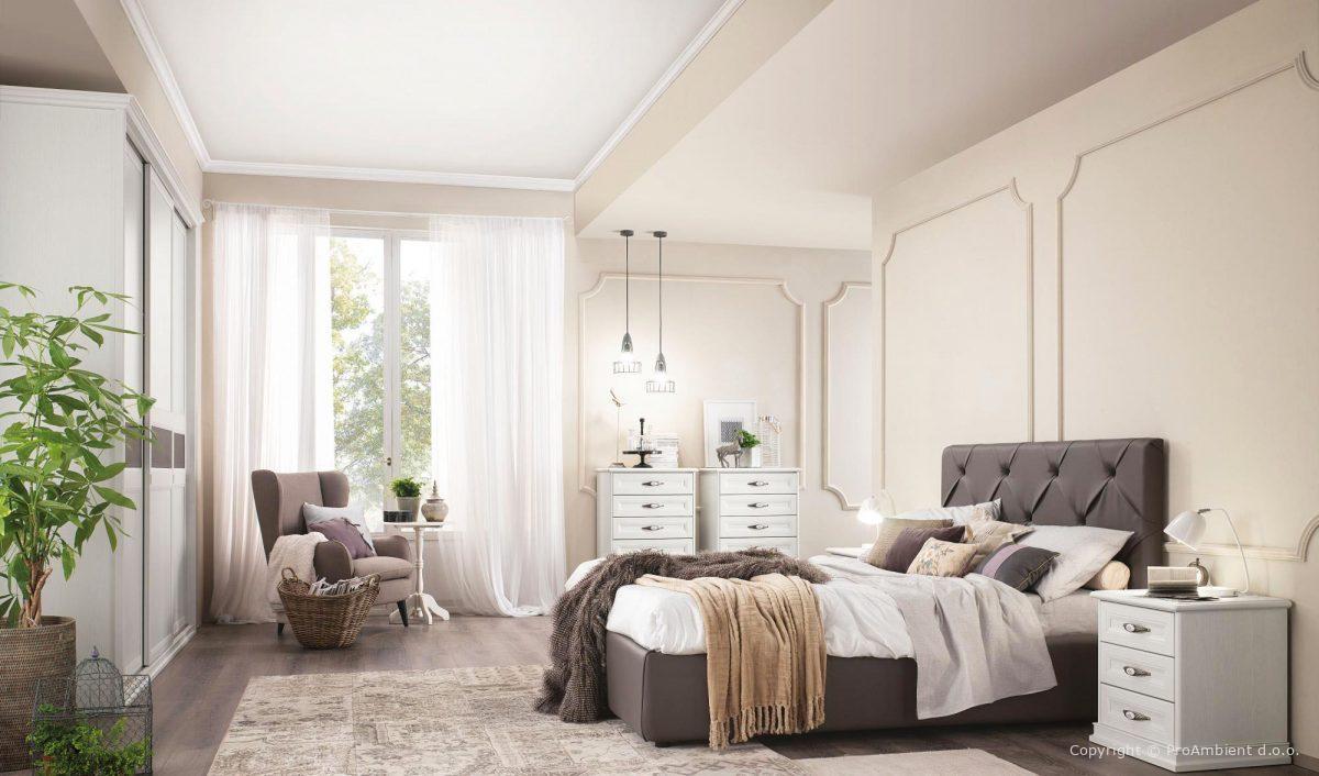 Notranja oprema - elegantne spalnice