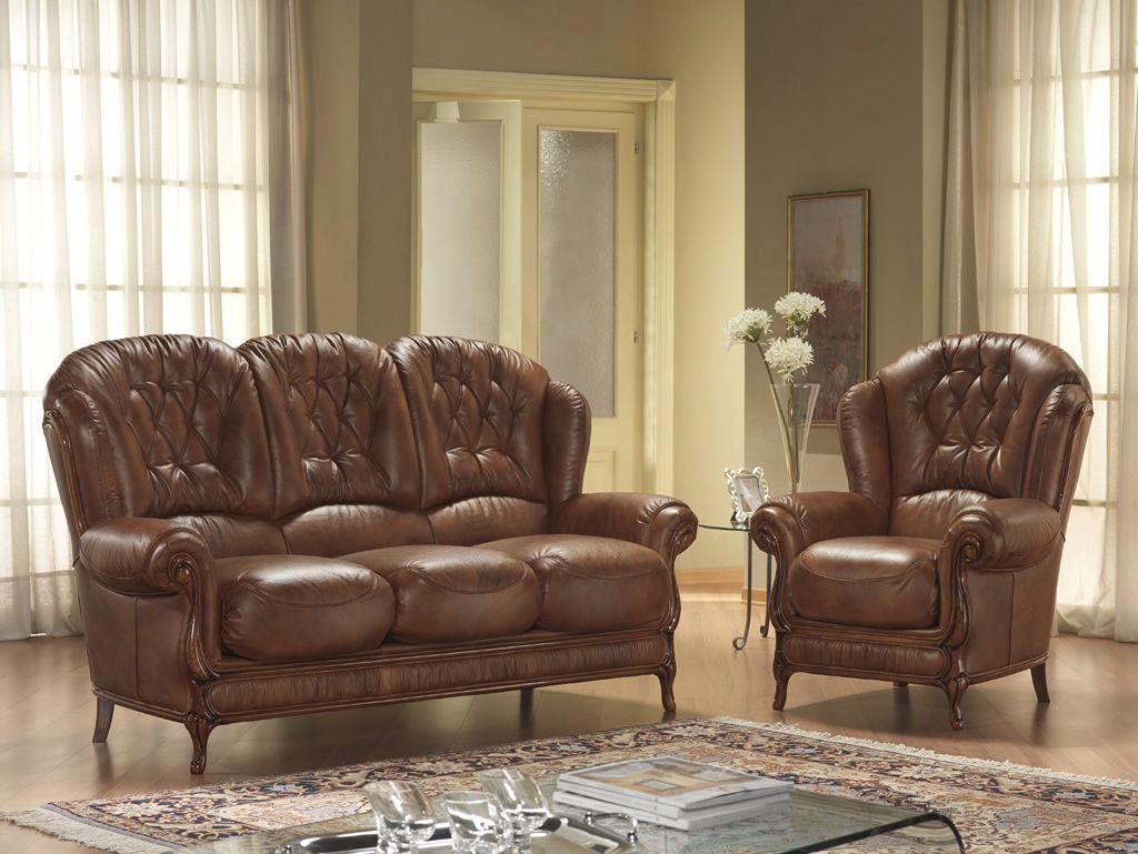 Rustične stilne sedežne - les usnje QM13