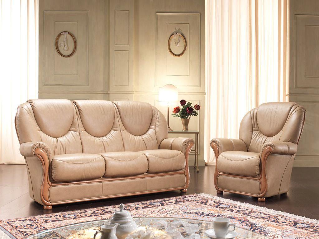 Rustične stilne sedežne - les usnje QM8