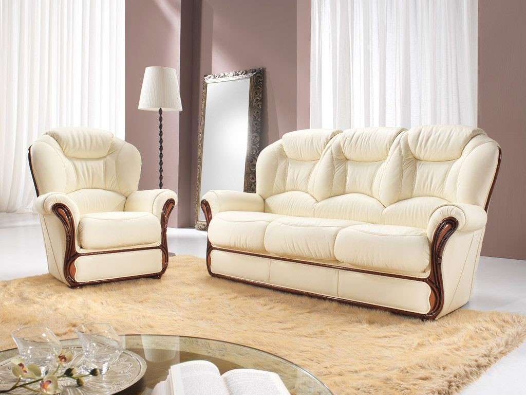 Rustične stilne sedežne - les usnje QM9