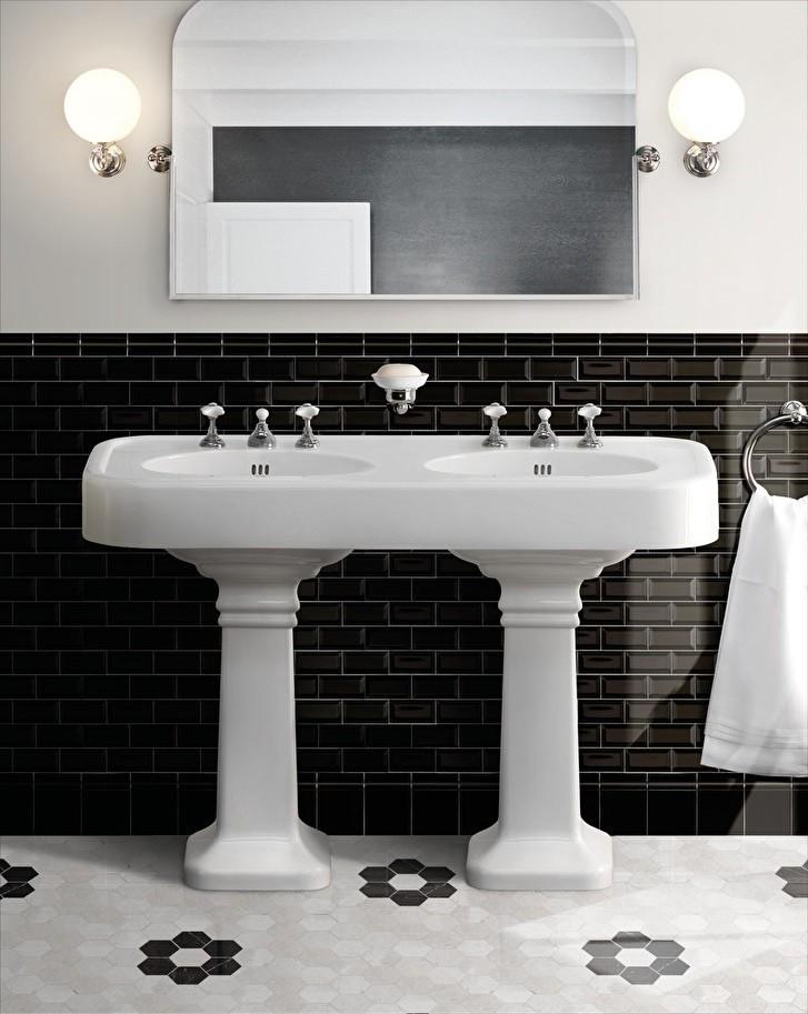 Dvojni kopalniški umivalnik